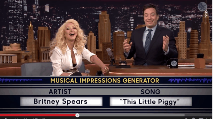 Christina Aguilera's Impression of Britney Spears on The Tonight Show with Jimmy Fallon