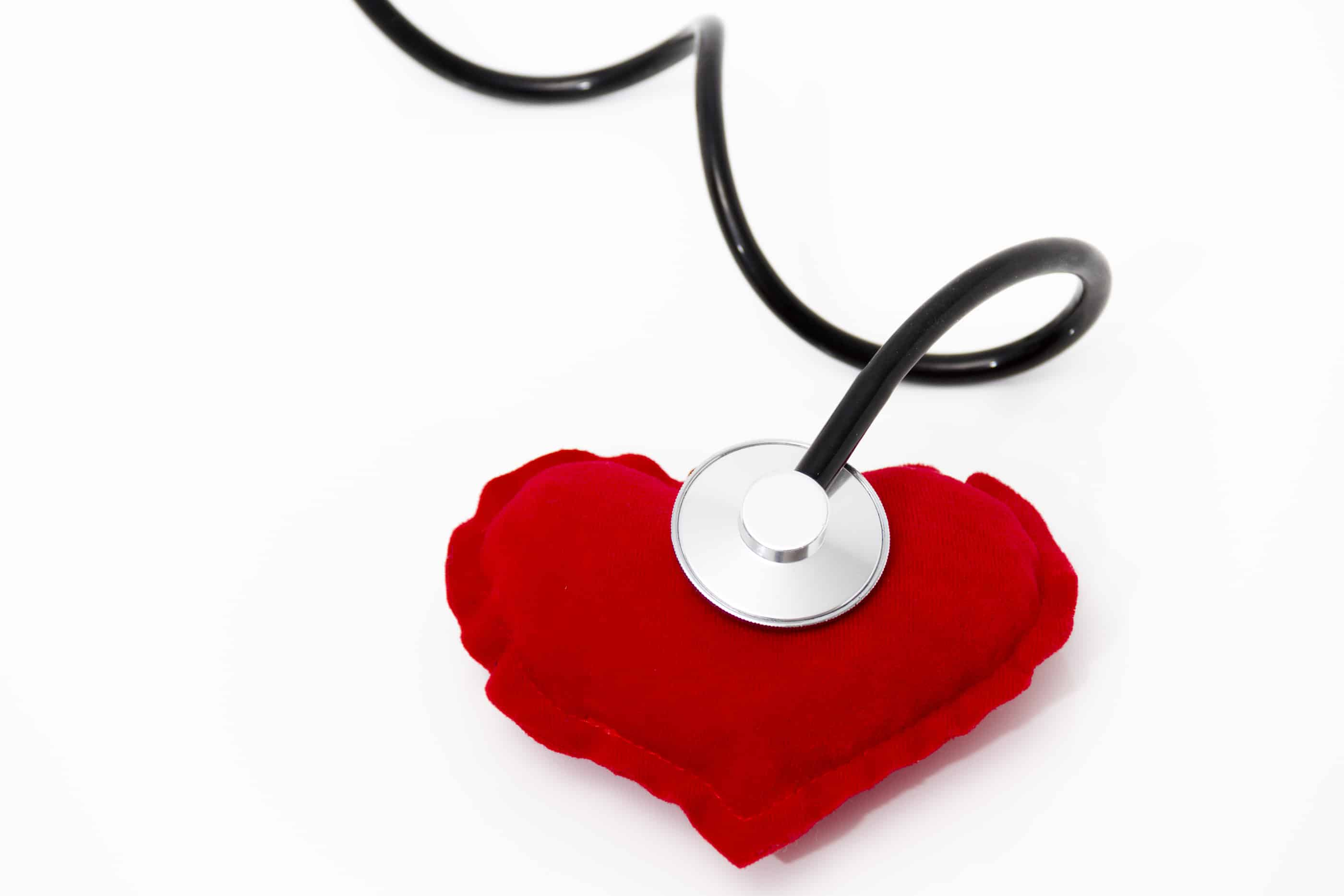 Doctor's Stethoscope Listening To A Healthy Red Heart ...Doctor Stethoscope Comment