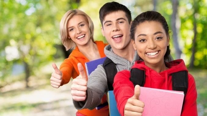 High Schools Students Giving Thumbs Up